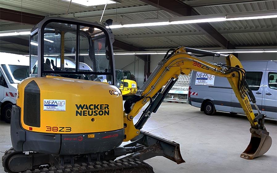 Baumaschinen von Wacker Neuson / MEZA Leitungsbau GmbH